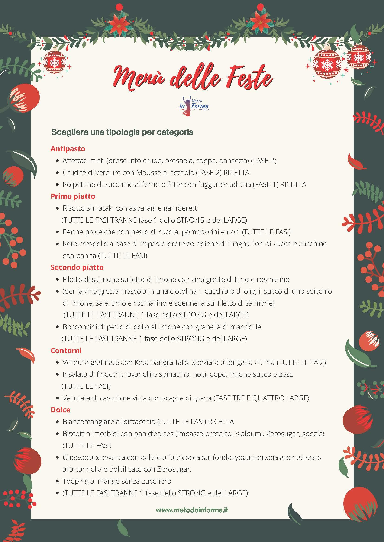 Menu delle feste | Metodo InForma