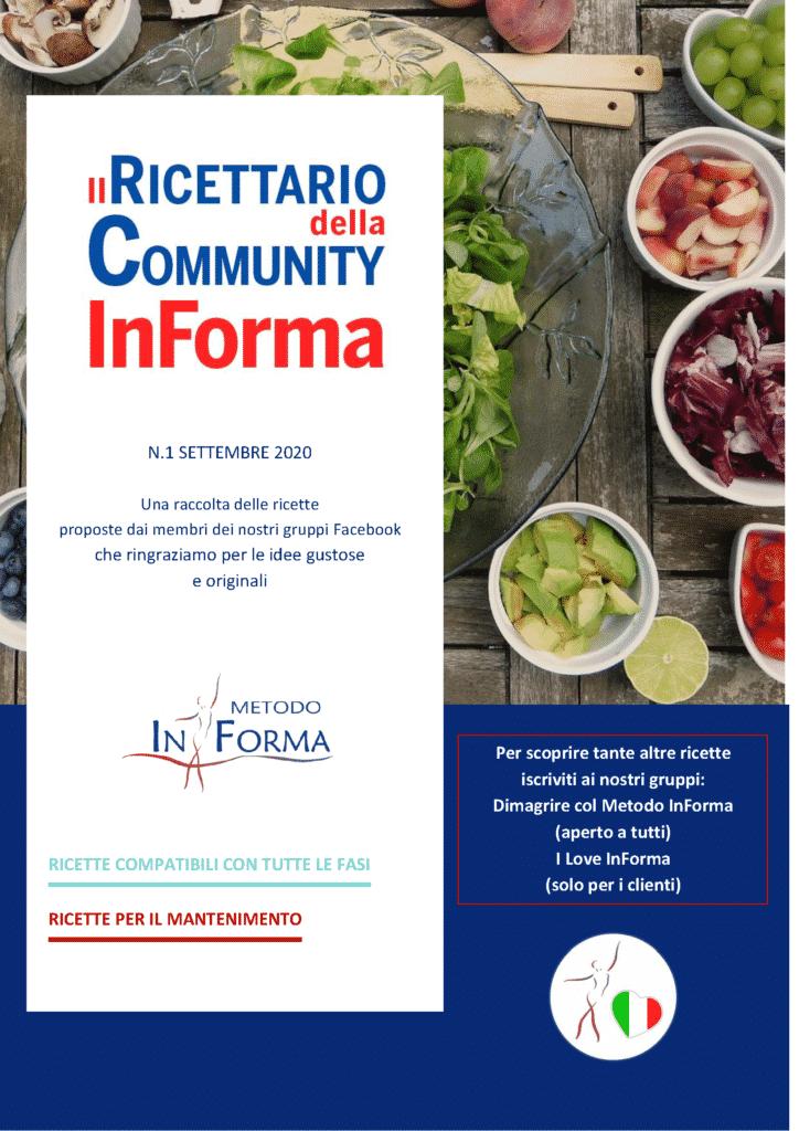Il Ricettario della Community InForma n.1 Settembre 2020 | Metodo InForma
